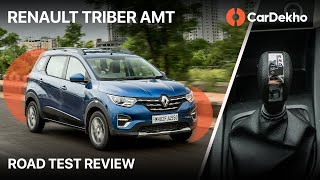 🚗 Renault Triber AMT ⚙️ Review In हिन्दी | Small Premium For City Convenience | CarDekho.com