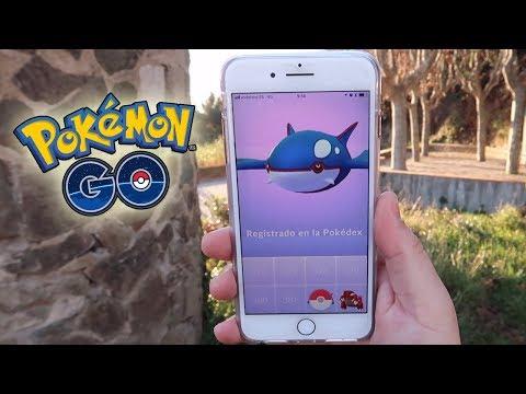 connectYoutube - ¡CAPTURO KYOGRE! NUEVO POKÉMON LEGENDARIO de 3GEN en Pokémon GO!! [Keibron]