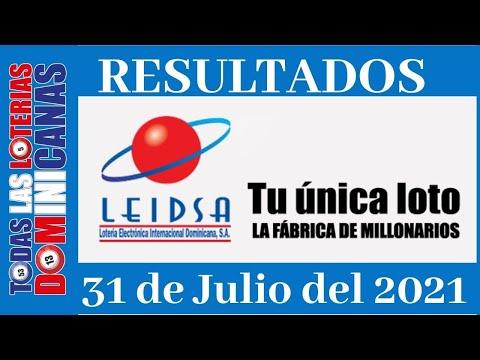 Lotería Quiniela Pale Sábado 31 de Julio de Julio 2021 #todaslasloteriasdominicanas