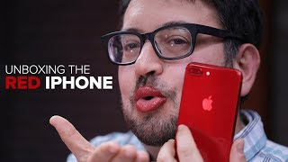 Product Red iPhone 8 Plus, unboxed