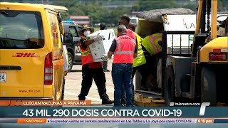 Panamá recibe 43,290 nuevas dosis de la vacuna contra covid-19 de Pfizer