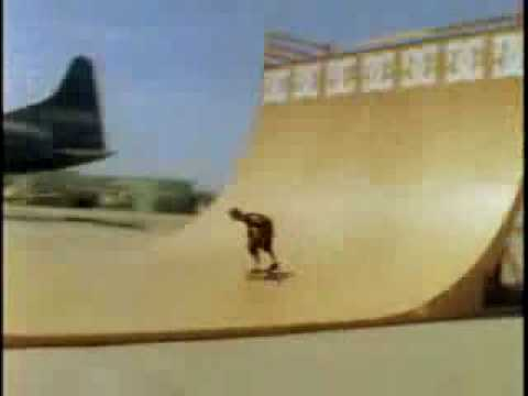 Danny Way vert ramp drop from a Helicopter