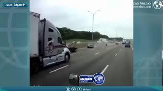 لحظة وفاة سائق في حادث مروع