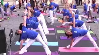 Indian Embassy Celebrates International Yoga Day In Rome - NDTV