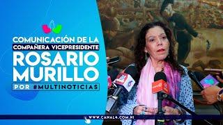 (EN VIVO) Comunicación Compañera Rosario Murillo, 09 de julio de 2020