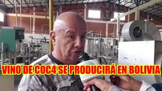 PRESIDENTE INDUSTRIA FERNANDO MORALES BUSCA INDUSTRIALIZAR ENERGIZANTE DE COC4 EN BOLIVIA..