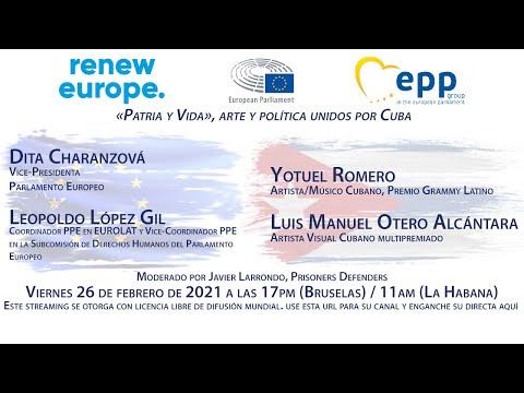 Parlamento Europeo - «Patria y Vida», arte y política unidos por Cuba