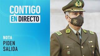 Oposición exige la renuncia del General Mario Rozas - Contigo En Directo