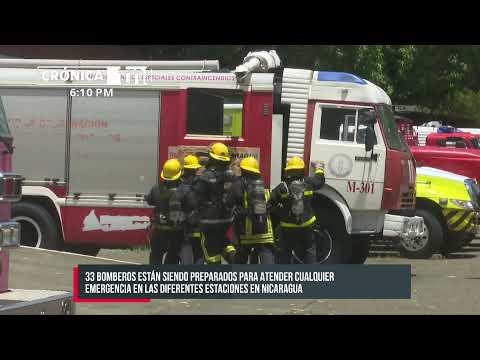 Más que preparados: 32 bomberos participan en un ejercicio en Managua - Nicaragua