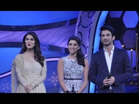 Sushant, Parineeti And Vaani Promote 'Shuddh Desi Romance'