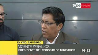 """Zeballos sobre salida de ministros: """"Tenemos el derecho de acudir a una recomposición"""""""