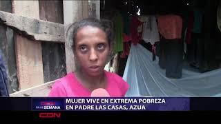 Mujer vive en extrema pobreza en Padre las Casas, Azua pide ayuda al presidente Abinader