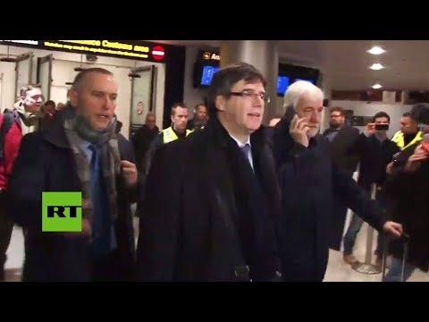 Puigdemont llega a Dinamarca pese al riesgo de ser detenido