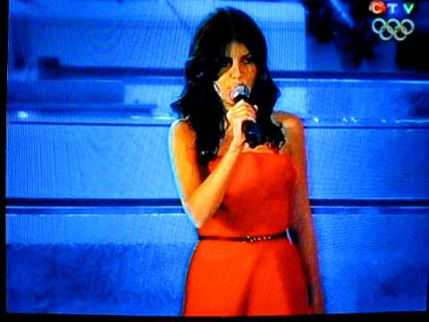 Nikki Yanofsky - Singing Oh Canada - 2010 Vancouver Olympics Opening Ceremony