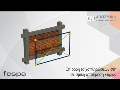 FespaR - Επιρροή τοιχοπληρώσεων στη σεισμική αποτίμηση κτιρίων