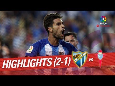 Resumen de Málaga CF vs RC Celta (2-1)