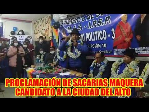 SACARIAS MAQUERA RATUKI EMPEZÓ CAMPAÑA PARA GANAR LA ALCALDÍA DE LA CIUDAD DEL ALTO..