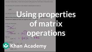 Equivalent matrix expressions