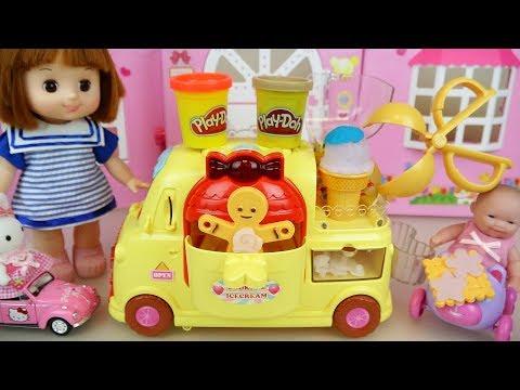 Baby doll cookie car Play Doh IceCream toys baby Doli play