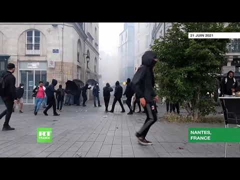 Nantes : heurts entre policiers et manifestants en marge de la Fête de la Musique