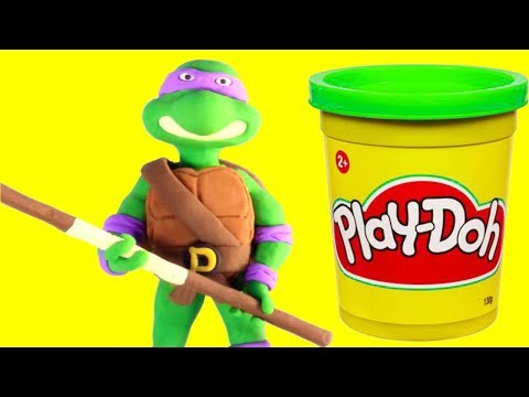 connectYoutube - Ninja Turtles funny Play Doh Stop motion video for kids