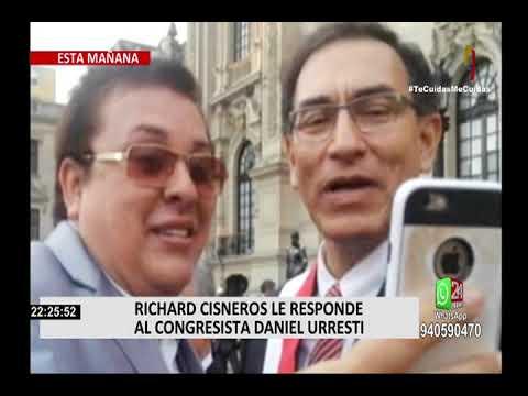 Richard Cisneros le responde al congresista Daniel Urresti
