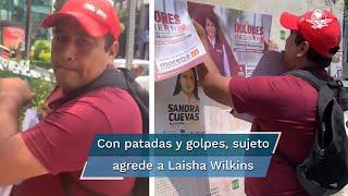Laisha Wilkins denuncia agresión tras pedir no colocar propaganda de Morena en la Cuauhtémoc