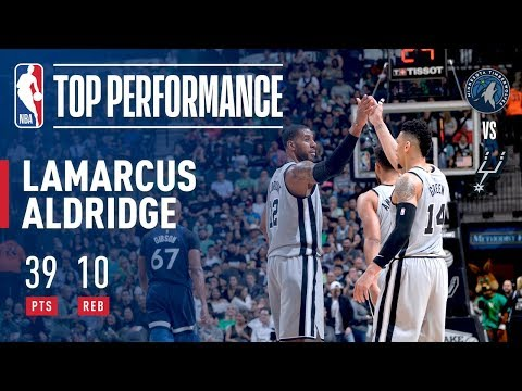 connectYoutube - LaMarcus Aldridge Puts Up A Double-Double vs Timberwolves!