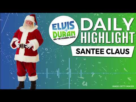 connectYoutube - Santee Claus Visits | Elvis Duran Daily Highlight