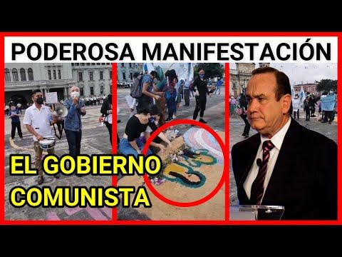 Resumen de la manifestación en contra de Alejandro Giammattei y su Gobierno comunista
