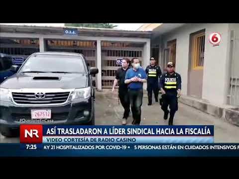 El momento en el que trasladan a Albino Vargas a la Fiscalía en Talamanca
