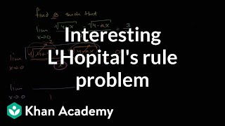 L'Hopital's Rule to solve for variable