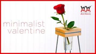 Valentine Vase: Maple with Metal Inlay   ART & DESIGN