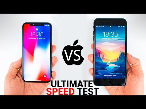 iPhone X vs iPhone 8 Plus - The ULTIMATE SPEED TEST