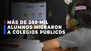????????Acopril: Más de 200 mil alumnos migraron de colegios privados a públicos durante el 2020