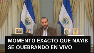 EL MOMENTO MAS EMOTIVO DE NAYIB EN LA CADENA NACIONAL