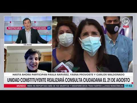 Senadora Allende se refirió a consulta ciudadana de Unidad Constituyente