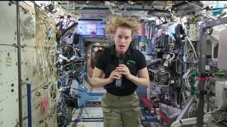Space Station Crew Member Discusses Work in Space with the Media
