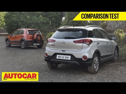 Hyundai i20 Active VS Fiat Avventura | Comparison Test | Autocar India - Fiat Videos