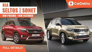 Kia Seltos 2021 and Kia Sonet 2021: New Features, Updated Prices : MUST WATCH