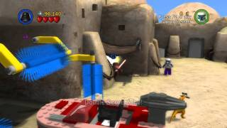 Let's Play Lego Star Wars: The Complete Saga - Ep 4 Ch 3 ~ Mos Eisley Spaceport ~ Free Play 1 of 2