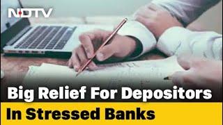 Rs 5 Lakh Insurance On Bank Deposits Within 90 Days Of Moratorium - NDTV