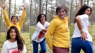 Actress Shriya Saran Crazy Dance With Her Husband   TFPC - TFPC