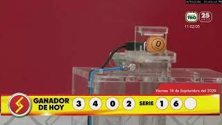 Sorteo 4775 Lotería Santander jugado 18/09/2020