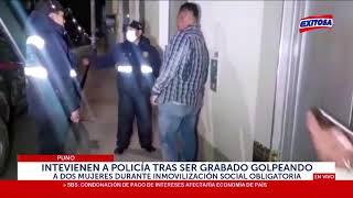 Puno: Intervienen a policía tras ser grabado golpeando a dos mujeres durante toque de queda