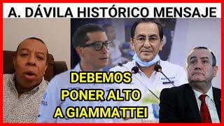 URGENTE GUATEMALA EL DIPUTADO ALDO DAVILA EN HISTORICO MENSAJE DEBEMOS PONER ALTO A GIAMMATTEI