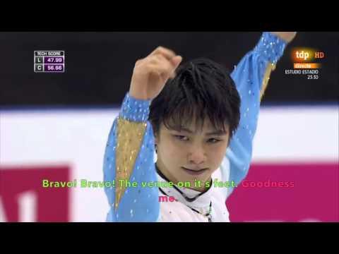 [ENG SUB] Spanish Commentary: Yuzuru Hanyu (JPN) SP - GPF 2015