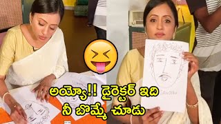Anchor Suma Drawing Director Funny Picture At Shooting Location | Suma Kanakala | Funny Video - RAJSHRITELUGU