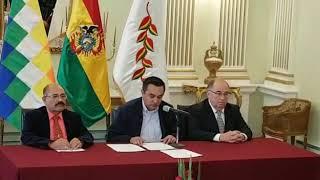 El canciller interino Yerko Nuñez anuncia la suspención de las relaciones entre Cuba y Bolivia