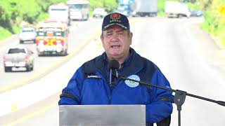 Presidente Alejandro Giammattei inaugura tramo carretero en Quetzaltenango (12/03/2021)